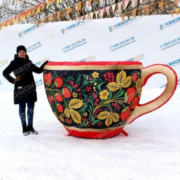 надувная чашка декорация к масленице