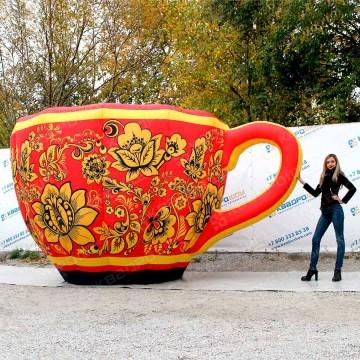 Надувная декорация Чашка хохлома