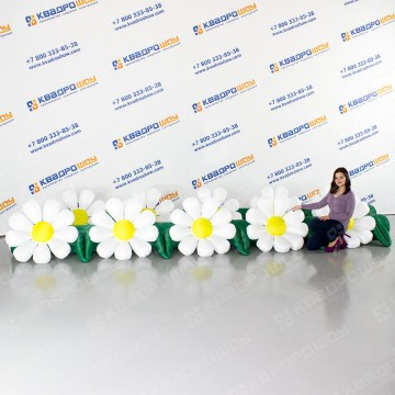 надувная цветочная гирлянда ромашки