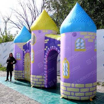 Надувная декорация фиолетовый замок для детей