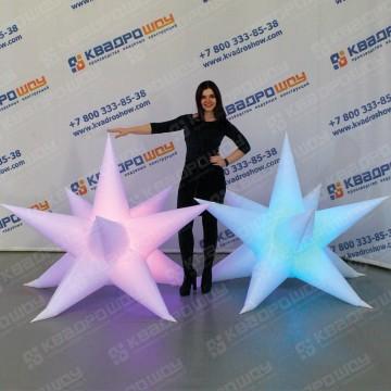 Надувная подвесная звезда с подсветкой