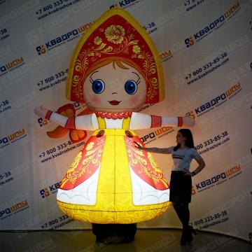 Надувная фигура Девочка в сарафане с подсветкой