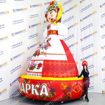 Девушка Масленица праздничная фигура вар.2