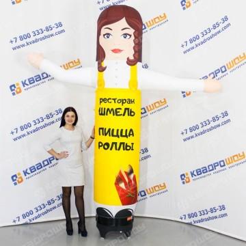 Надувная конструкция девушка ЛАЙТ для рекламы