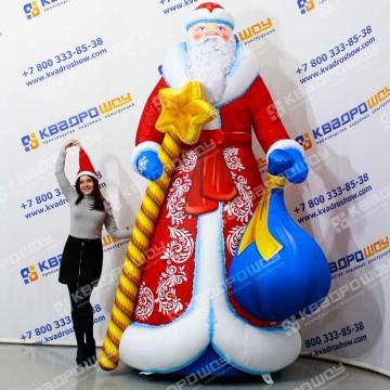 Надувной Дед Мороз для украшения уличного пространства