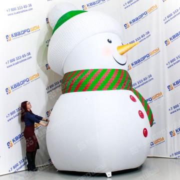 Надувной Снеговик для украшения территории