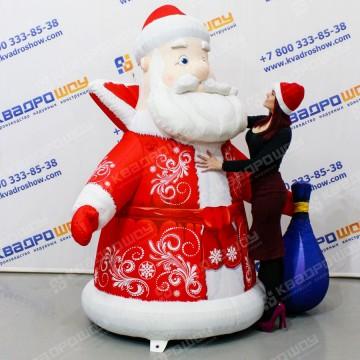 Надувная новогодняя фигура Дед Мороз с мешком