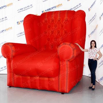 Надувная реклама мягкой мебели кресло