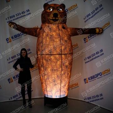 Надувная конструкция Медведь с подсветкой