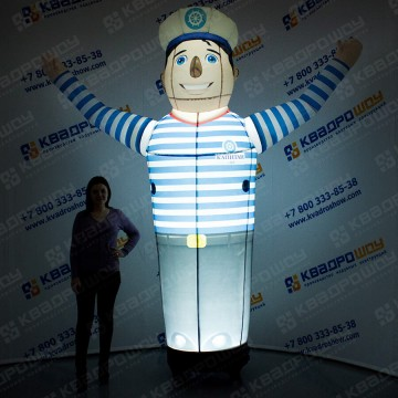 Декорация надувная Моряк с подсветкой
