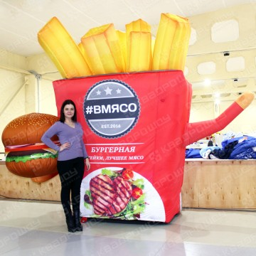 надувная фигура огромный гамбургер и картошка фри