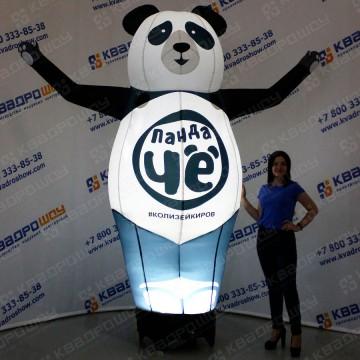 Надувная конструкция панда Чё с подсветкой