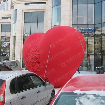 Пневмофигура сердце брендированное