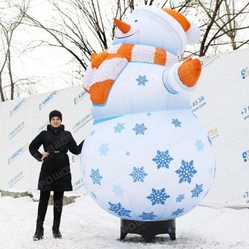 надувная фигура снеговик для улицы