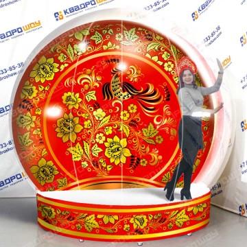 Надувной Чудо-шар фотозона вариант 6 Хохлома на Масленицу
