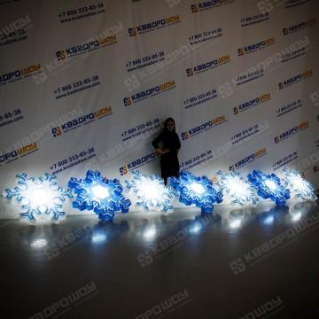надувная гирлянда снежинки с эффектом раскрытия и подсветкой