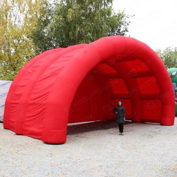 Надувная красная сценическая площадка-навес