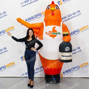 Надувная фигура Курица с пельменями