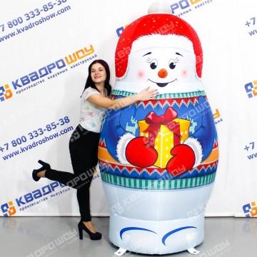 надувная фигура матрешка новогодний снеговик