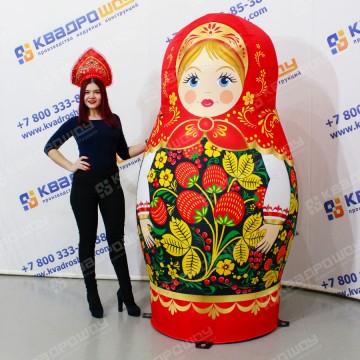 Надувная кукла Матрёшка Чёрная хохлома