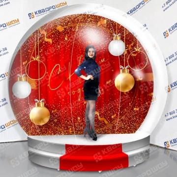 Прозрачный надувной чудо-шар новогодний