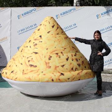 надувная огромная фигура тарелка чак-чака