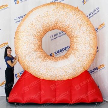 Надувной рекламный Пончик на подставке