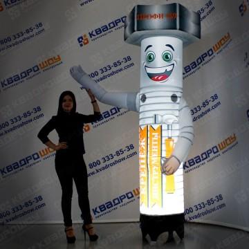 надувная рекламная фигура болт с машущей рукой