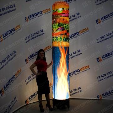 надувная рекламная фигура гамбургеры на огне