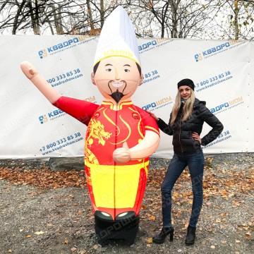 Надувная рекламная фигура китайского повара с машущей рукой