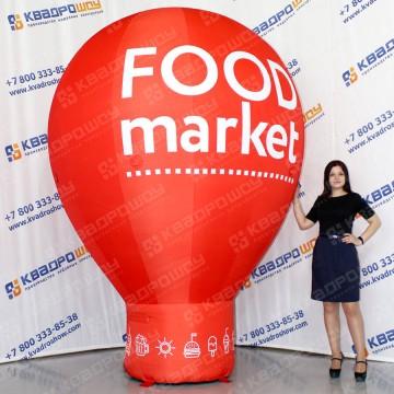 надувная рекламная капля на опоре food market