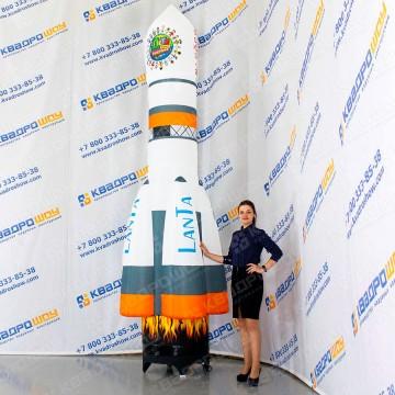 Надувная рекламная конструкция Ракета