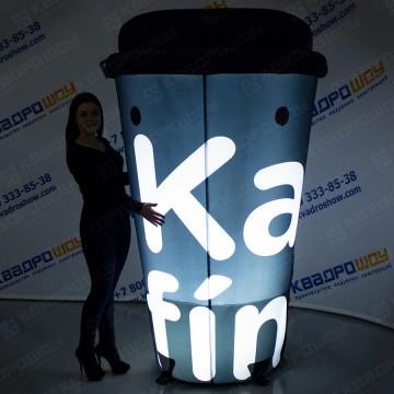 надувная рекламная конструкция стаканчик кофе с подсветкой