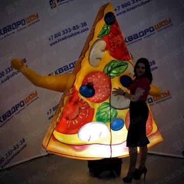 надувная пицца зазывала для рекламы и продвижения пиццерии