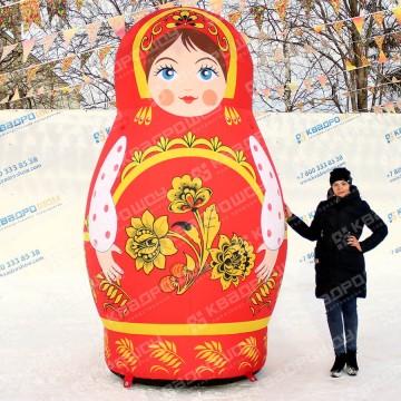 надувная ростовая кукла русская матрёшка