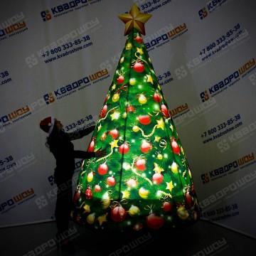 Надувная фигура праздничная рождественская ёлка