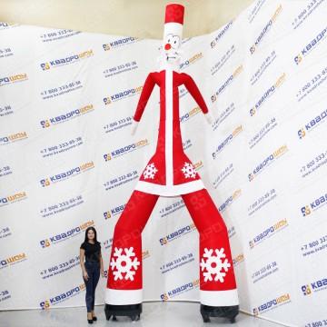 Воздушный Дед Мороз с подарками