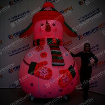 Надувной Снеговик с RGB подсветкой