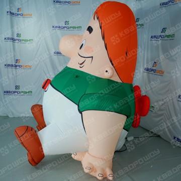 Надувная скульптура персонажа мультфильма Карлсон