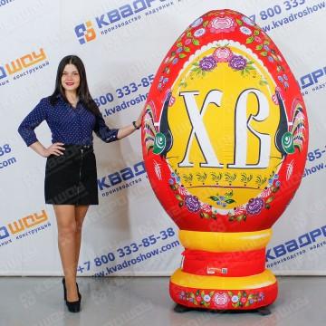 Надувное яйцо Городецкая роспись с лошадкой