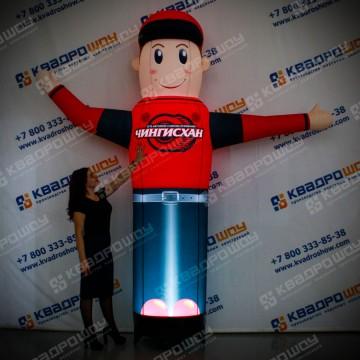 Рекламная фигура руком автомойщик красно-синий