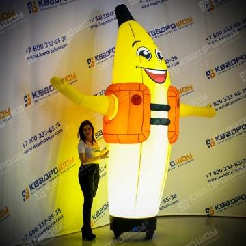 Надувной зазывала Банан с подсветкой