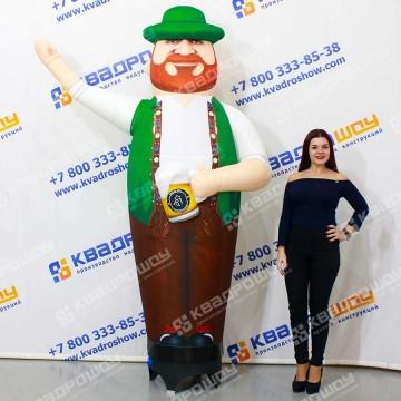 Надувная фигура рыжебородый Мужчина с кружкой пива