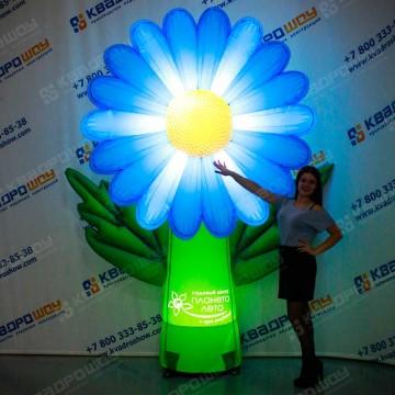 Надувная Ромашка голубая с подсветкой
