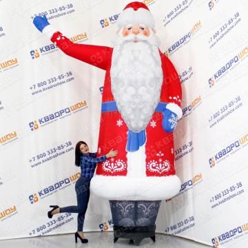 Надувная новогодняя фигура Дед Мороз зазывала
