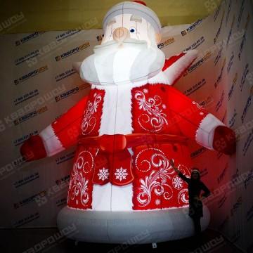 Надувной Дед Мороз с подсветкой лампочки
