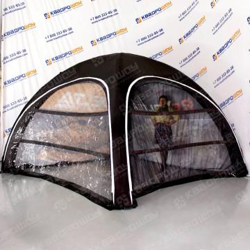 надувной фирменный шатер с прозрачными стенками