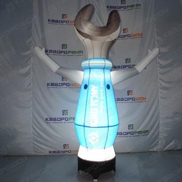 Реклама магазина инструментов гаечный ключ с подсветкой