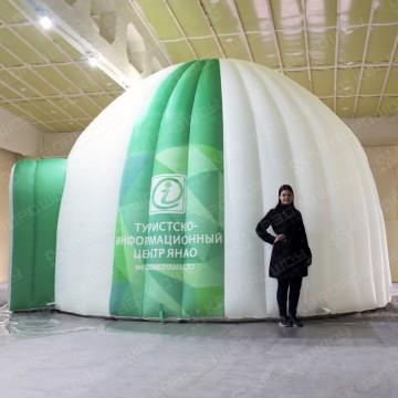 надувной гигантский шатер иглу белозеленый с логотипом