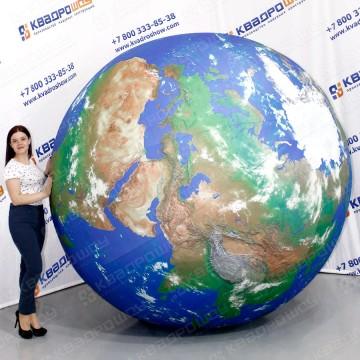 Огромный надувной глобус
